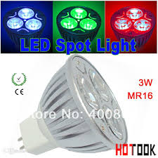 best wholesale 12v mr16 led spotlight 3w blue green led spot