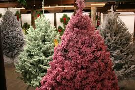 Pink Christmas Tree Flocking Spray by Christmas Tree Minnesota Prairie Roots