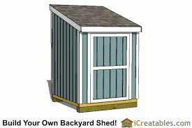 8x6 Storage Shed Plans by Lean To Shed Plans Easy To Build Diy Shed Designs