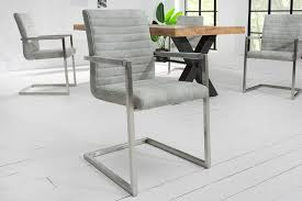 industrial freischwinger stuhl loft grau mit armlehne