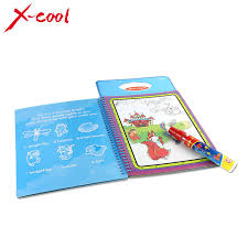 XC1392 New Arrives Magic Kids Water Drawing Book With 1 Pen Intimate Coloring