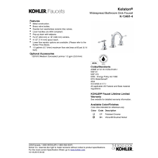 Kohler Faucet Aerator Assembly by Kohler K 13491 4 Cp Kelston Polished Chrome Two Handle Widespread