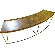 milo baughman for thayer coggin curved sofa console table at 1stdibs