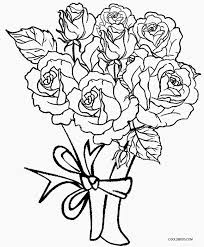 Coloring Page Pages Rose Adult Roses Crosses With And Hearts Also