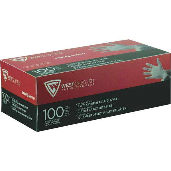 West Chester 2850 Industrial Grade Disposable Latex Gloves - 7mil, 100ct