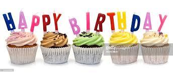 Happy Birthday Cupcakes Stock