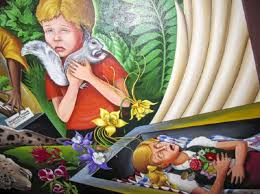 Denver International Airport Murals Painted Over by There Is A Secret Alien Government Underground Base At Denver