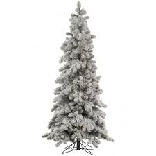 8 Foot Medium Flocked Kodiak Spruce Tree Unlit