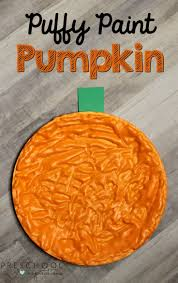 How To Make Puffy Paint Pumpkins For A Fall Art Activity