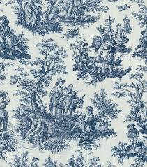 Waverly Upholstery Fabric 54u0022 Rustic Toile Navy