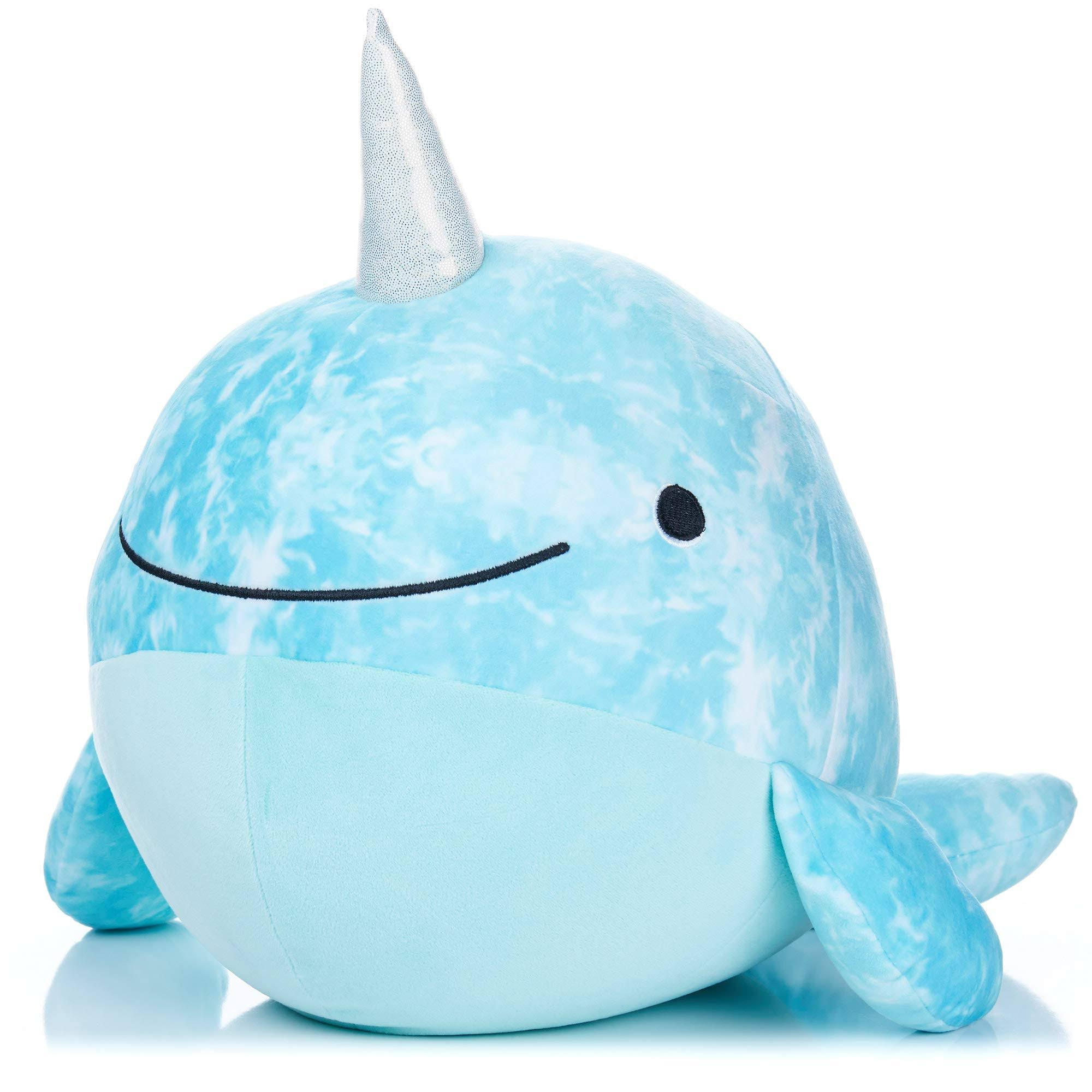 Kids Preferred Cuddle Pal Round Huggable Indigo The Narwhal