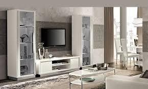 wohnzimmer esszimmer roma slim weiß hochglanz