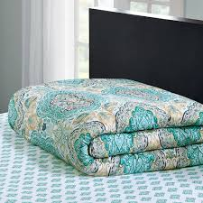 Walmart Bed Sheets by Mainstays Monique Paisley Coordinated Bedding Set Walmart Com