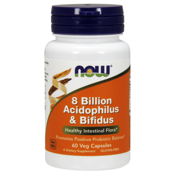 NOW Foods 8 Billion Acidophilus and Bifidus Supplement - 60 VCaps