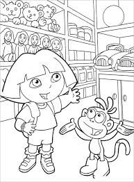 Dora In Toy Shop Coloring Page For Free