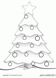 Christmas Tree Coloring Page Print by Christmas Tree Coloring Page Print Color Fun