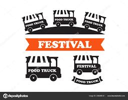 100 Truck Logos Food Festival Emblems Vector Stock Vector Myub