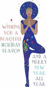 And Santa Yoga Christmas Card Post Days Of By Angela Chick