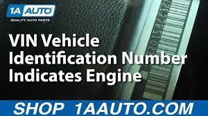 The 8th Eighth Digit In The VIN Vehicle Identification Number ...