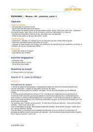espagnol niveau a1 primaire cycle 3 objectifs activités