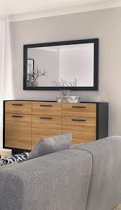 wohnwand schrankwand wohnzimmer möbel lovio schwarz eiche
