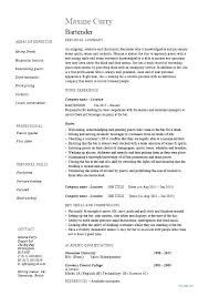 Head Waitress Resume Examples Feat Example Bartender