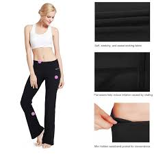 amazon com baleaf women u0027s yoga bootleg pants inner pocket clothing