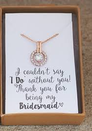 Bridesmaid NecklaceBridesmaid Giftpersonalized WeddingRose Gold NecklaceMaid Of Honor GiftRustic Weddingwill You Be My