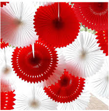 12 Inch 5pcs Lot Paper Fans For Party Decorations Crafts Halloween Birthday