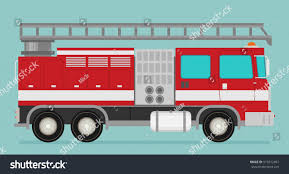 Fire Truck Rescue Engine Transportation Firefighter Stock Vector ...