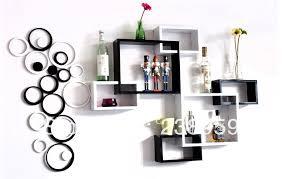 Cube Display Wooden Wall Shelf Design Hang Circle