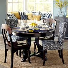 Carmilla Blue Damask Dining Chair With Espresso Wood | Decor | Black ... Brynwood White 5 Pc Round Ding Set With Blue Chairs Room Carmilla Damask Chair Espresso Wood Decor Black Contemporary With Wooden Table And Perfect Navy House Seven Design Build Shop Hanover Traditions 5piece In 4 And Farmhouse Fniture Skagen Round Table Oak Gripsholm Chair Entrancing New Roll Squire Parsons Slipcover Rectangle Brown Legs Combined Excerpt Shabby In A Range Of Styles Ireland Dfs Ideas Ikea