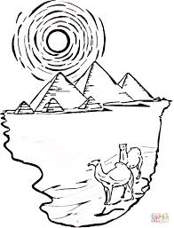 Click The Egyptian Pyramids And Camels Coloring Pages To View Printable