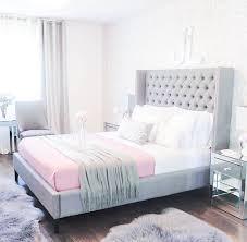 Gray Walls Pink Bedding Grey Bedrooms On Blush