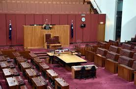 chambre du parlement vue intérieure du sénat australien dans la chambre du parlement