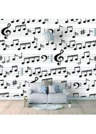 3d tapete wandbild musiknotation foto tapete erwachsene