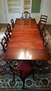 10pc Duncan Phyfe Drop Leaf Table Set For Sale In Ottawa IL
