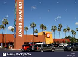 American Home Depot Store building exterior and parking lot in