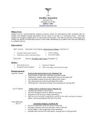 Restaurant Resume Samples Worker Examples