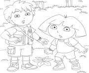 Dora Et Diego Coloring Pages