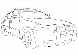 Lego Police Car Coloring Page In Coloring Pages