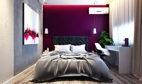 Purple Accent Wall Quilted Headboard Awesome Ideas For Your Bedroom Grey Walls