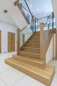 Www.stockwell-ltd.co.uk American White Oak 3 Part Dogleg Flight ... Modern Glass Stair Railing Design Interior Waplag Still In Process Frameless Staircase Balustrade Design To Lishaft Stainless Amazing Staircase Without Handrails Also White Tufted 33 Best Stairs Images On Pinterest And Unique Banister Railings Home By Larizza Popular Single Steel Handrail With Smart Best 25 Stair Railing Ideas Stairs 47 Ideas Staircases Wood Railings Rustic Acero Designed Villa In Madrid I N T E R O S P A C