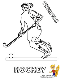 Woman Olympian Hockey Coloring At YesColoring