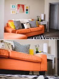 Cindy Crawford Denim Sofa Cover by Savannah Smiled Blog Custom Kivik Sofa Cover Review Kino Orange