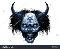 Is Halloween A Satanic Holiday by Hell Evil Smiling Clown Makeup Long Stock Illustration 499672303