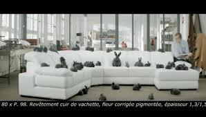 canap angle cuir center des lapins dans la nouvelle publicité cuir center