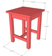 Ana White Childs Adirondack Chair by Ana White Adirondack Stool Or End Table Diy Projects