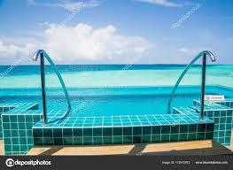 100 Maldives Infinity Pool Grab Bars Ladder Swimming Stock