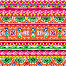100 Truck Art Vector Floral Seamless Folk Pattern Indian Floral